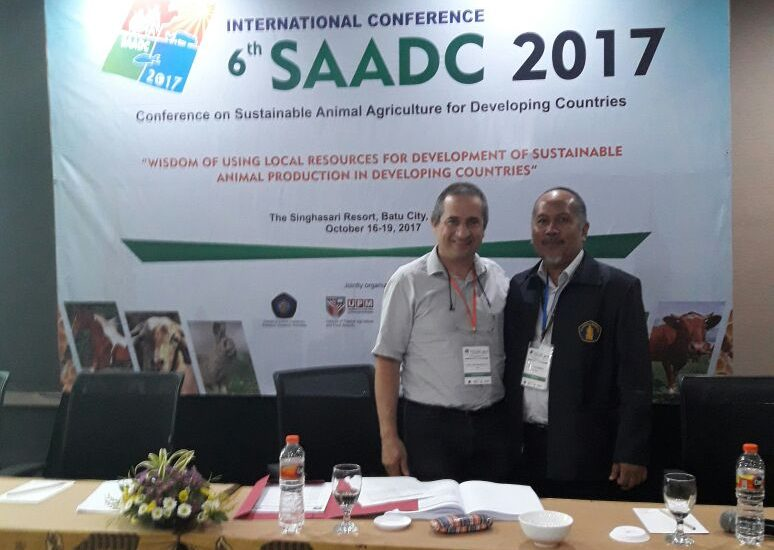 Mengikuti International Conferences 6th SAADC (Sustainable Animal Agriculture for Developing Countries)